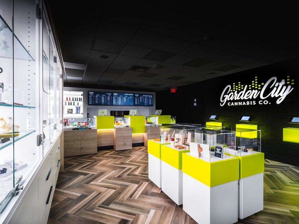 Interior view of Garden City Cannabis Co in St. Catharines Ontario